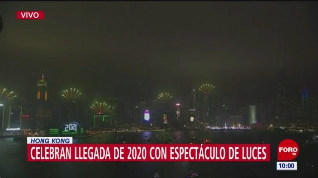 Foto: hong kong celebra llegada del 2020 con espectaculo de luces