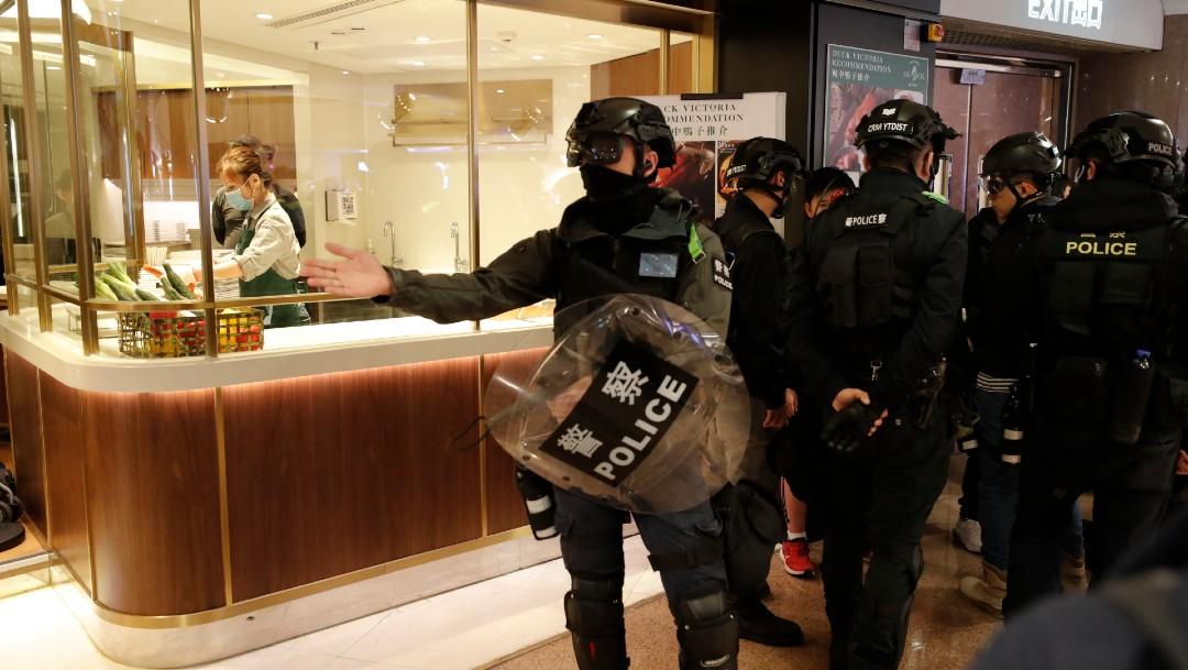 FOTO Hong Kong registra protesta de Año Nuevo (AP)