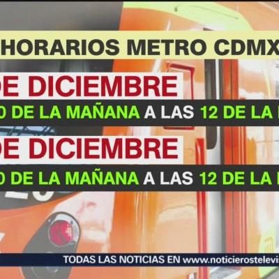 Horarios del transporte público de Nochebuena y Navidad en CDMX