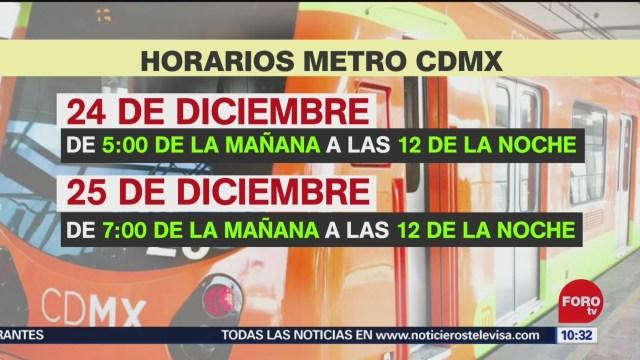 FOTO: 22 diciembre 2019, horarios del transporte publico de nochebuena y navidad en cdmx