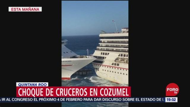 Foto: Video Choque Cruceros Cozumel Hoy 20 Diciembre 2019