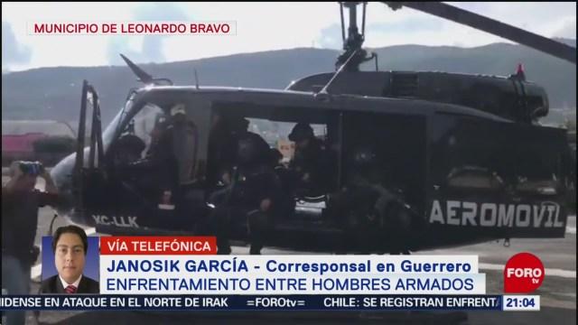 Foto: Operativo Seguridad Balacera Leonardo Bravo Guerrero 28 Diciembre 2019