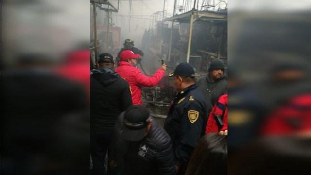 El incendio consumió alrededor de 350 locales del mercado San Cosme, 22 DICIEMBRE 2019