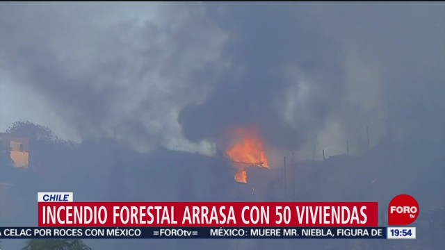 Foto: Incendios Forestales Chile Consumen Casas 24 Diciembre 2019