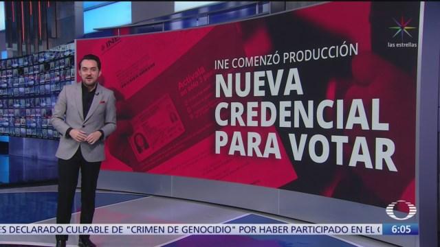 ine comienza la produccion de la nueva credencial para votar