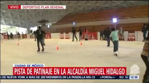 FOTO: 21 diciembre 2019, instalan pistas de patinaje de hielo en la alcaldia miguel hidalgo
