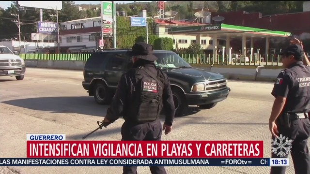 Foto: Intensifican Vigilancia Playas Carreteras Guerrero 27 Diciembre 2019