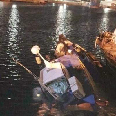 Foto: De acuerdo con las primeras versiones, a la embarcación comenzó a entrarle agua a través de la popa, lo que ocasionó el hundimiento