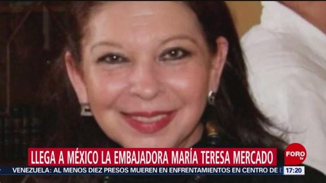 FOTO: 31 diciembre 2019, llega a mexico la embajadora maria teresa mercado