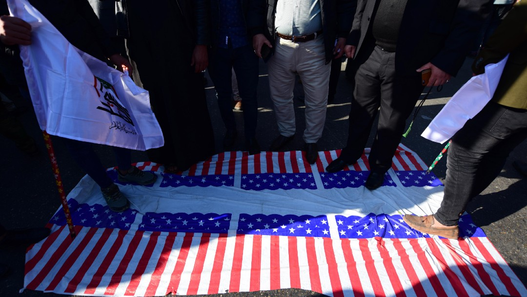 FOTO Manifestantes irrumpen en Embajada de EEUU en Bagdad (EFE)