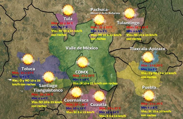 Foto: Pronóstico meteorológico para este domingo 24 de noviembre, 7 diciembre 2019