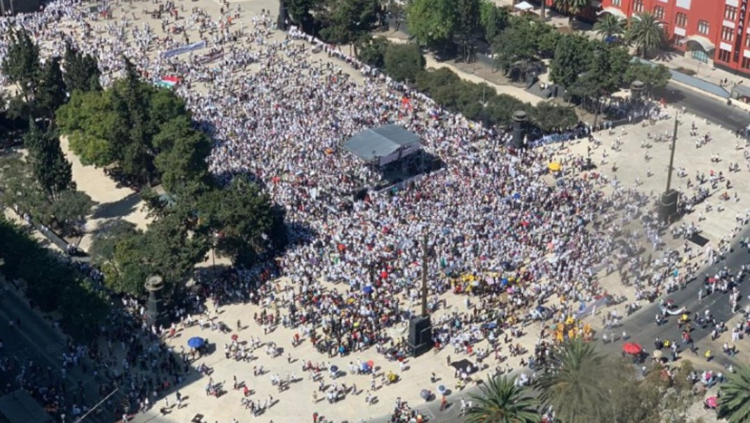 Marcha contra el gobierno de AMLO (Noticieros Televisa, especial)