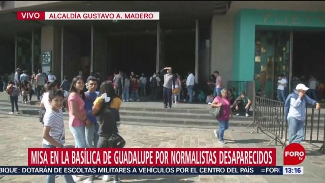 misa en la basilica de guadalupe por normalistas desaparecidos