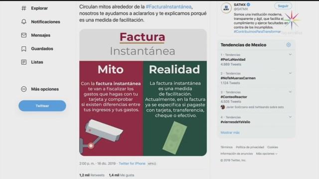 Foto: Mitos Realidades Uso Facturas Instantáneas 20 Diciembre 2019
