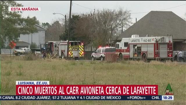 Foto: Accidente Avioneta Luisiana Mueren Cinco 28 Diciembre 2019
