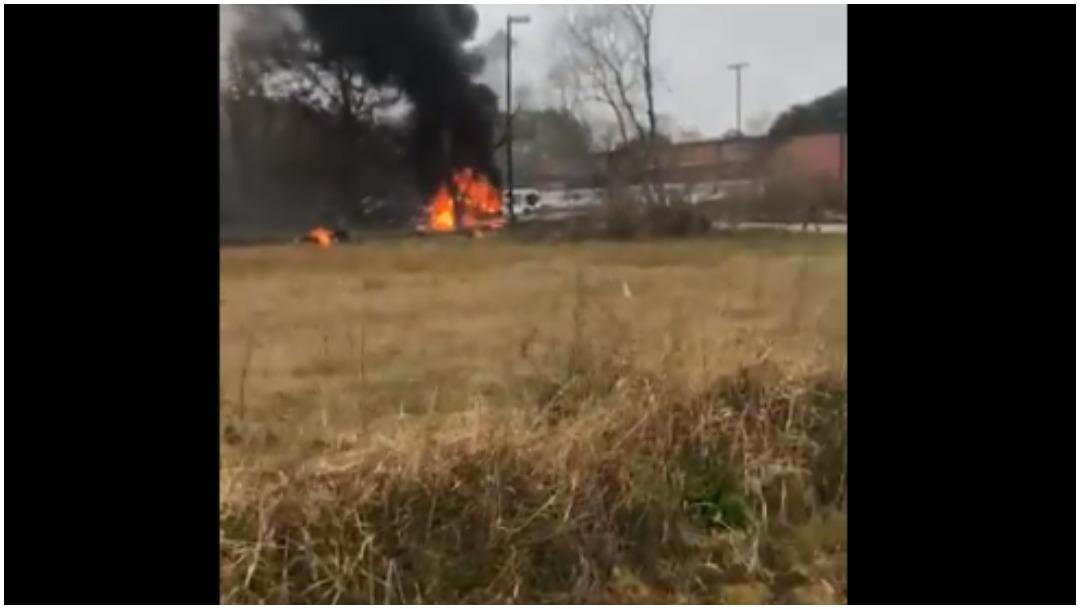 Foto: Cinco personas murieron tras accidente de avioneta en Luisiana, 28 de diciembre de 2019 (Twitter)