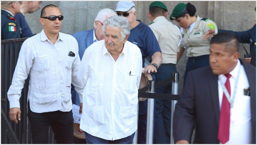 Foto: José Mujica, expresidente de Uruguay, fue uno de los invitados especiales en el mensaje de López Obrador, (MOISÉS PABLO /CUARTOSCURO.COM)