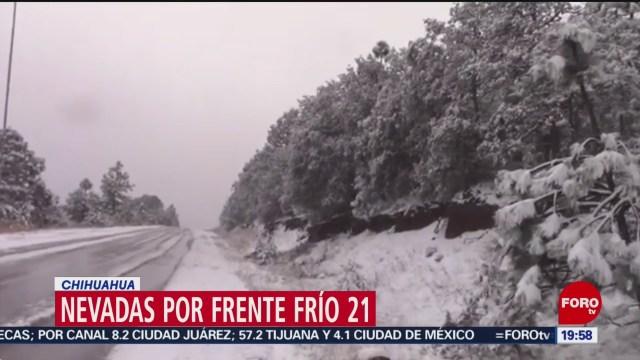 Foto: Nevadas Azotan Chihuahua 10 Diciembre 2019