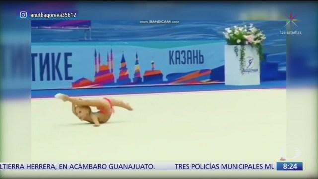 nina gimnasta sorprende en rusia