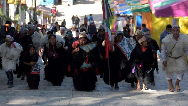 FOTO Así veneran a la Virgen de Guadalupe los niños indígenas de San Cristóbal de las Casas (EFE 11 diciembre 2019 chiapas)
