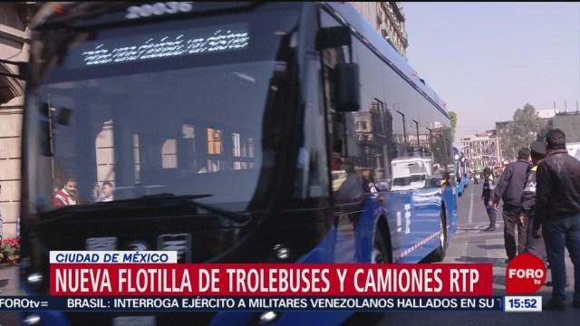Foto: Trolebuses Camiones Rtp Cdmx Nueva Flotilla 28 Diciembre 2019