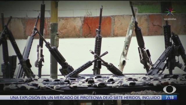operativo frozen contra trafico de armas