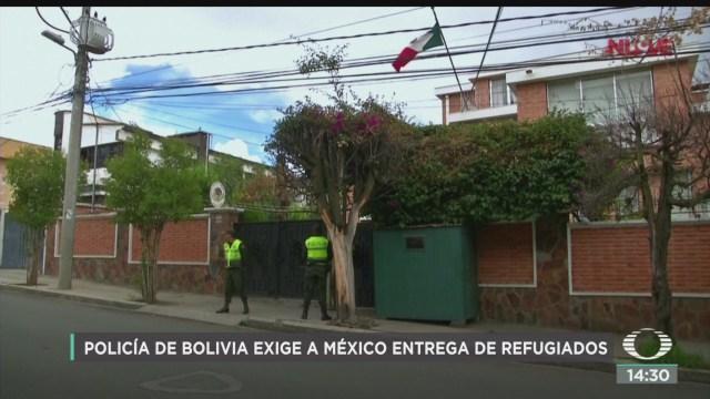policia de bolivia exige a mexico entrega de refugiados