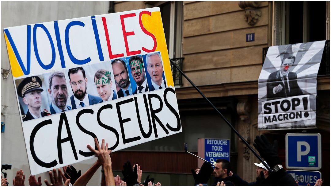 Foto: Tercer día de huelga en Francia, 7 de diciembre de 2019 (AP)