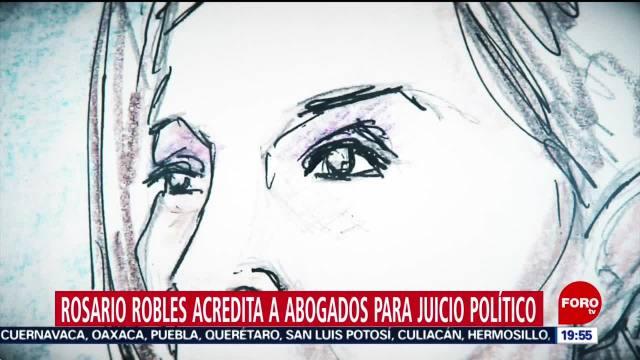 Foto: Rosario Robles Acredita Abogados Juicio Político 10 Diciembre 2019