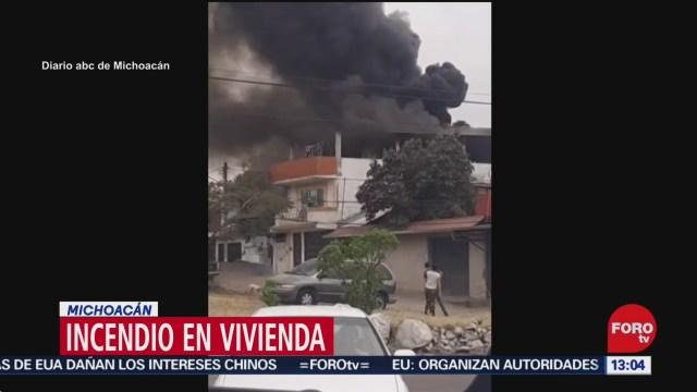 FOTO: 22 diciembre 2019, se incendia vivienda en uruapan michoacan