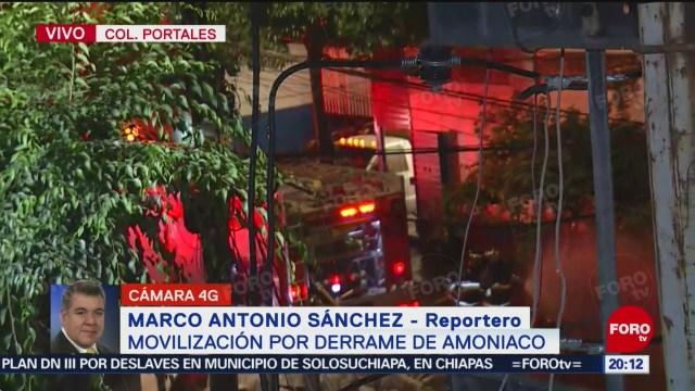 Foto: Derrame Amoniaco Colonia Portales Cdmx Hoy 13 Diciembre 2019