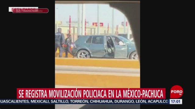 FOTO: Se registra movilización policíaca en la México-Pachuca, 15 diciembre 2019