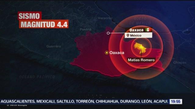 FOTO: Se registra sismo de magnitud 4.4 en Oaxaca, 8 diciembre 2019