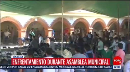 FOTO: Se registran enfrentamientos en elecciones municipales en Oaxaca, 15 diciembre 2019