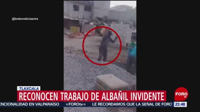 Foto: Video Albañil Invidente Tlaxcala 25 Diciembre 2019