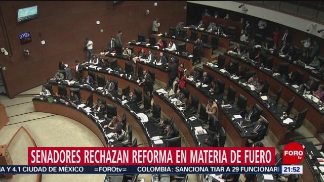 Foto: Senado Rechaza Reforma Materia Fuero Diputados 3 Diciembre 2019