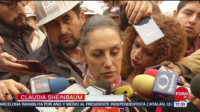 FOTO: sheinbaum confirma retraso en obras de reconstruccion