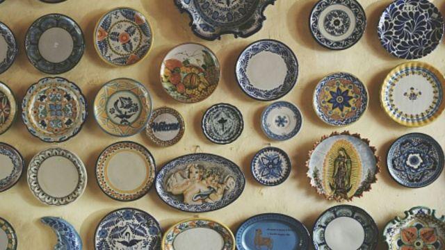 Piezas cerámicas de talavera.