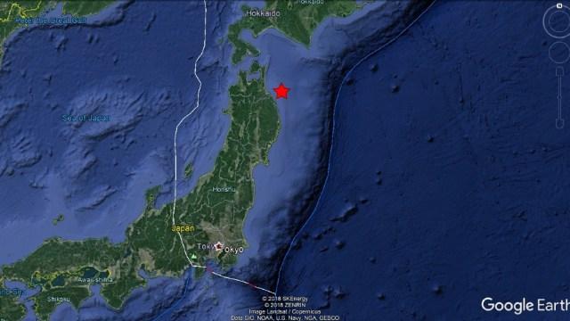 Terremoto de magnitud 5.5 se registra al noreste de Japón