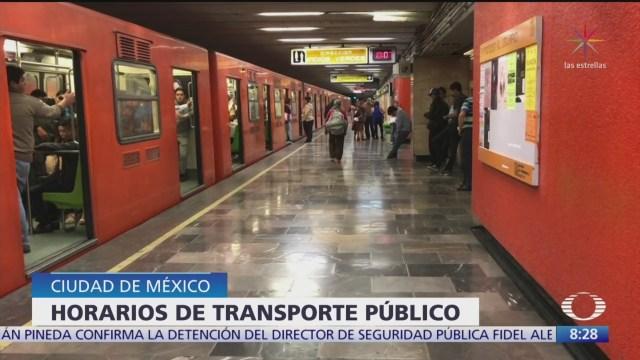 Foto: transporte publico tendra horario especial por fin de ano