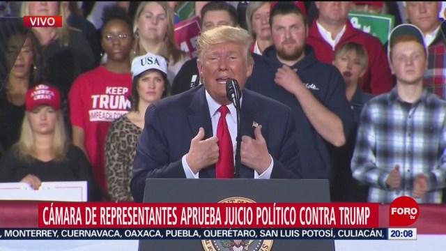 Foto: Donald Trump Reacción Juicio Político 18 Diciembre 2019