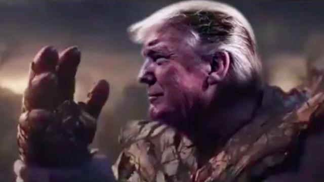 fOTO: Donald Trump usó al personaje Thanos para un vídeo de su campaña electoral, 11 diciembre 2019