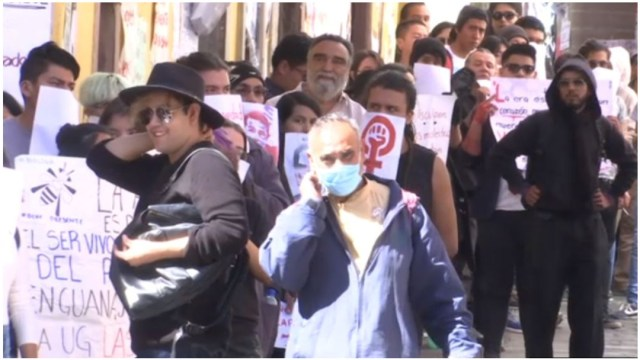 Foto: Estudiantes exigen respuesta tras asesinato de Ana Daniela Vega, 7 de diciembre de 2019 (Foro TV)
