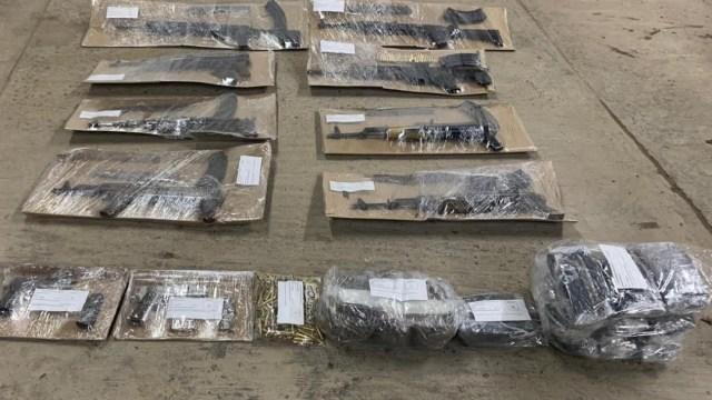 Foto: Decomisan arsenal en Caborca, Sonora, 14 de diciembre de 2019 (Noticieros Televisa)
