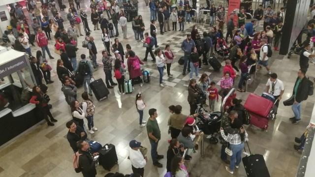 Foto: Vacacionistas abarrotan terminales de la CDMX, 21 de diciembre de 2019 (Cuartoscuro)