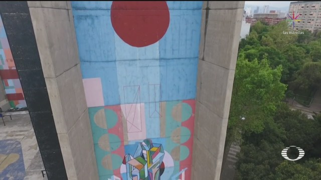 Foto: Vecinos Tlatelolco Denuncian Intervención Mural Nicandro Puente 20 Diciembre 2019