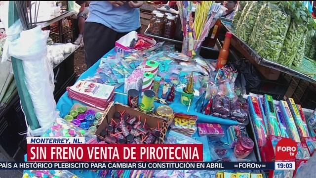 Foto: Venta Pirotecnia Mercados Monterrey No Tiene Límites 23 Diciembre 2019