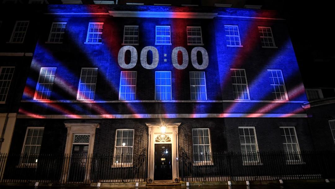 Foto: Celebran y lamentan salida del Reino Unido de la Unión Europea, 31 de enero de 2020, (Reuters)