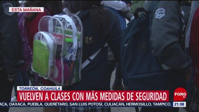 Foto: Alumnos Colegio Cervantes Regresan Clases Torreón 17 Enero 2020