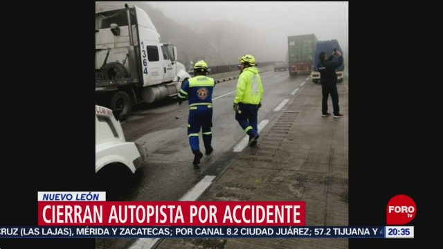 Foto: Accidente Carambola Autopista Monterrey Saltillo NL 22 Enero 2020